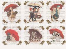 Rice paper -Winter Umbrella- for Decoupage Scrapbooking Sheet