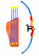 "Kings Sport 32"" Toy Archery Bow And Arrow Set For Kids Four Suction Cup Arrows"