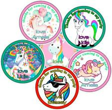 Personalised  Party Bag Stickers Unicorn Theme