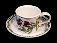 Beautiful Portmeirion Botanic Garden Heartsease Drum Tea Cup And Saucer