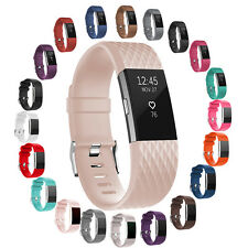 For Fitbit Charge 2!L/S 2016 New Replacement Wrist Band With Metal Watch Clasp