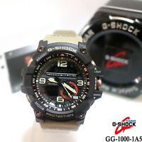 New Casio Watch G-Shock GG-1000-1A5 Mudmaster Twin Sensor Compass Beige For Men
