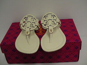 Women's tory burch slippers ivory miller veg nappa size 7.5 us new with box