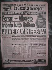 LA GAZZETTA DELLO SPORT 30/4/1984 Alboreto vince su Ferrari Juventus qs scudetto