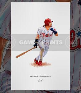John Kruk 1993 Philadelphia Phillies Baseball Illustrated Print Poster Art