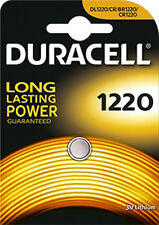 1 PILA BOTON BATERIA CR1220 DURACELL DE LITIO 3V LITHIUM BATTERY DL1220 CR/BR122