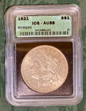 1921 S ICG AU58 Morgan Silver Dollar
