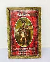 Vintage Rare Walkers Pure Butter Shortbread Advertisement Litho Tin Sign Framed