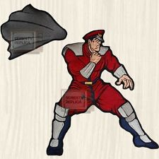 Street Fighter 2 M. Bison Big Embroidered Patch Character Capcom Super Thailand