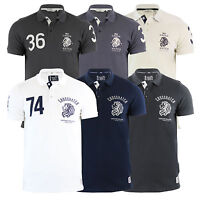Mens Polo T Shirt Crosshatch Pique Polo Cotton Collared Short Sleeve T Shirt