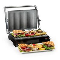 Grill contacto Parrilla Sandwichera Tostador Calentador 2000W Acero Inoxidable