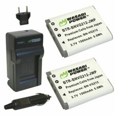 Wasabi Power Battery (2-Pack) and Charger for JVC BN-VG212