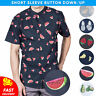 Visive Hawaiian Shirt For Mens Short Sleeve Button Down Up Novelty Funny Shirts