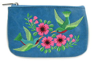 Lavishy Coin wallet - Hummingbirds and Flowers Embroidered Wallet Beautiful