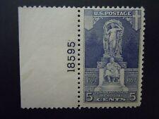 1926 #628 5c Ericsson Memorial Plate # Single MNH OG F/VF