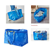 IKEA Large Blue Shopping Bag Grocery Laundry Storage Tote ECO Frakta Heavy Duty