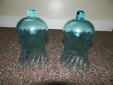 "Home Interiors Replacement Blue 5.25 "" Glass Globes Candle Wall Sconces Pair"