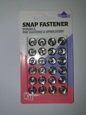 Nickel Snap Fasteners Silver Color Size 12mm Press Studs