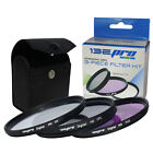 I3ePro 52MM Lens Filter Kit UV CPL FLD for Canon, Nikon, Sony DSLR Cameras