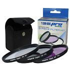 I3ePro 58MM Lens Filter Kit UV CPL FLD for Canon & Nikon DSLR Cameras