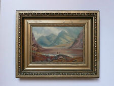 Antique 19th century Oil on Canvas painting of Lake District Cumbria Wasteland