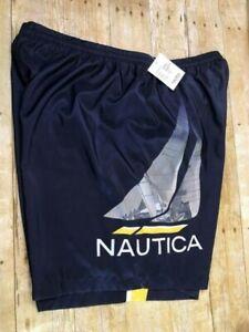 🐟NWT🐟 NAUTICA BEACH SWIM BATHING SAILING SUIT 401 NAVY AND YELLOW MEN'S Sz 2XL