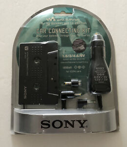 Sony DCC-E34CP Car Connecting Kit Cassette Adapter Power Kit for CD/MD Walkman