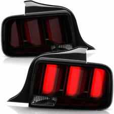 Ford 05-09 Mustang Smoked LED w/Red Tube Bar Sequential Turn Signal Tail Lights