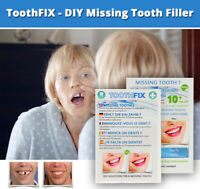 ToothFIX - DIY TEMPORARY MISSING TOOTH REPAIR COSMETIC GAP FILLER FALSE TEETH