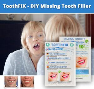 ToothFIX - DIY TEMPORARY MISSING TOOTH REPAIR COSMETIC GAP FILLER FALSE TEETH