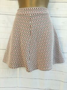 Primark Short Mini Flared Skirt Red Cream - UK 10 - New with tags BNWT