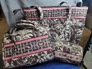 Lot of 3: Vera Bradley Imperial Toile Asian Print Tote, Bath Bag, and Makeup Bag