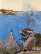 Arthur Streeton, From McMahon's Point 1890, Australian HD Art Print or Canvas