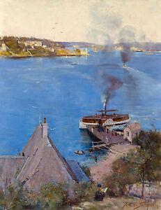 Arthur Streeton, From McMahon's Point 1890, Australian HD Art Print or Canvas