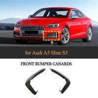 für Audi A5 Sline S5 17-19 Carbon Front Stoßstangen Flossen Flaps Canard Lippe