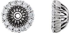 Diamond Cluster Earring Jackets In 14K White Gold (1/8 ct. tw