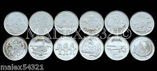 SET OF (12) 1999 MILLENNIUM TWENTY-FIVE CENTS UNCIRCULATED