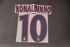 Flocage RONALDINHO n°10 bleu PSG  patch shirt Paris Saint Germain  maillot