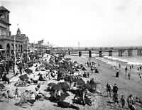 """1900 Santa Monica Beach, California Old Photo 8.5"""" x 11"""" Reprint"""
