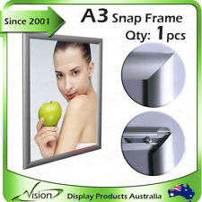 Snap Frame, Poster Frame - A3 Squrare Corner Silver 25mm Profile x 1pcs