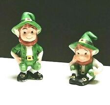 New ListingSt. Patrick's Day Elf Leprechaun Porcelain Figurine Lefton Vintage 1990 Lot of 2