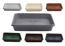 More details for home garden ornaments square  plastic plant pot saucers extra large drip trays