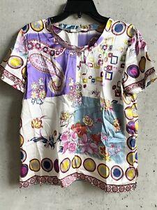 Etro Silk Blouse Shirt Top Size 46 Italy