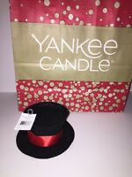 YANKEE CANDLE Top Hat Large BLACK/RED NEW with Tags Christmas Home Decor Accent