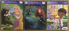 Leapfrog Tag Reader Books Disney Tangled Brave & Doc McStuffins Lot of 3