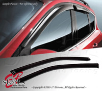 Ford Focus Hatchback 2000-2007 Outside-Mounted Dark Smoke JDM Window Visors 2pcs
