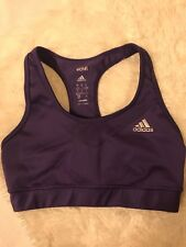 Adidas Techfit Compression Sports Bra Purple gym workout Size S (Orig $ 30.00)