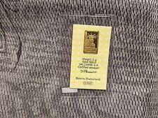 1985 Valcambi Credit Suisse 2g Gold Bar !!