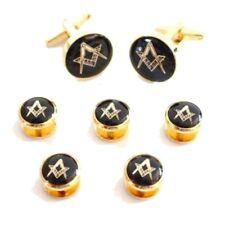 Masonic Cufflinks 5 Dress Studs Gift Set Cufflinks & Dress Studs
