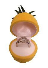 Cute Pineapple Ring Box Organizer Storage Display Yellow Holder Jewelry Case T52